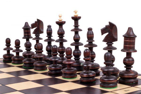 wooden polish chess set