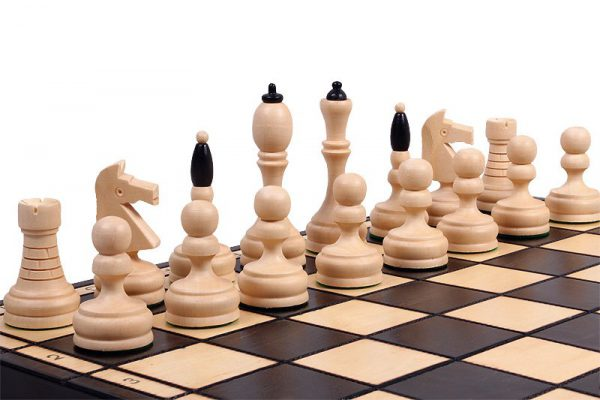 handmade slim chess set