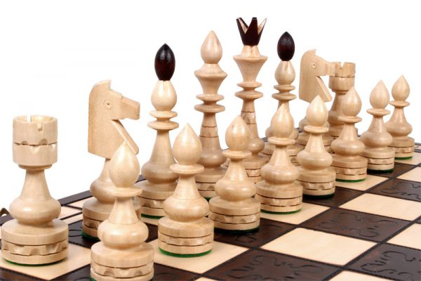 handmade chess set indian