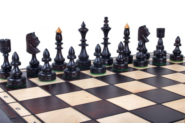 small wooden chess