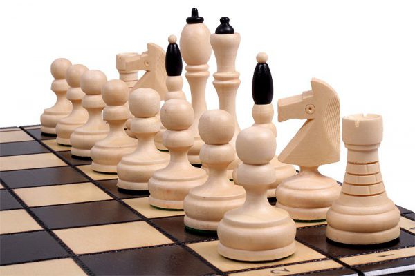 wooden slim chess