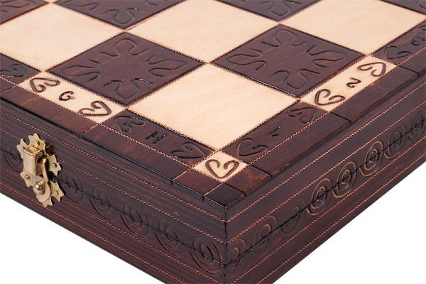 chess set gothic wooden
