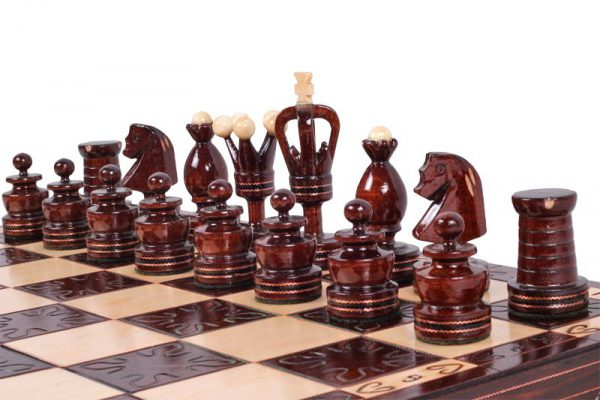 handmade wooden chess set gothic