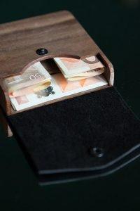 wooden wallet