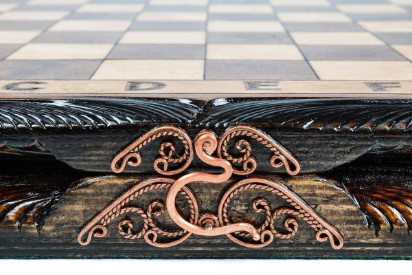 exclusive handmade wooden chess board