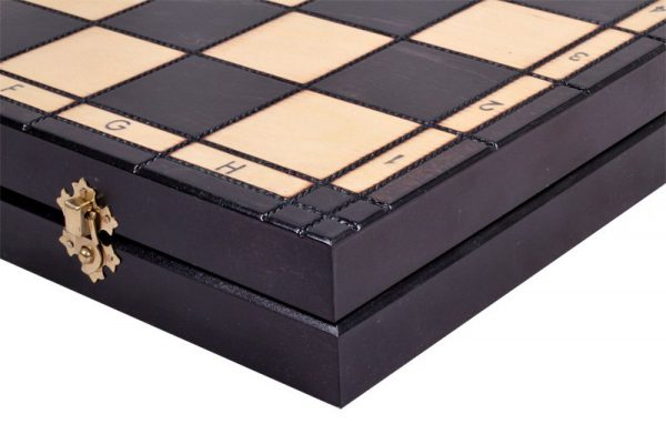 slim chess set wooden