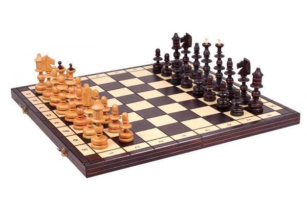 old polish wooden chess set