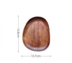 walnut wood plates