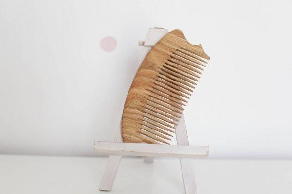 handmade hair comb wooden
