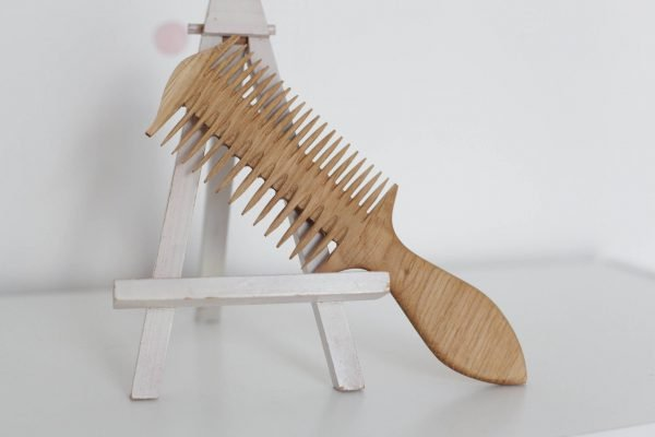 wooden two side hair comb