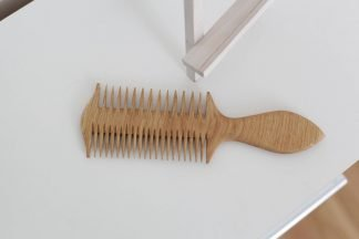 handmade wooden hair comb two sides