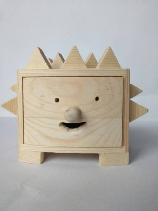 Wooden Hedgehog Box