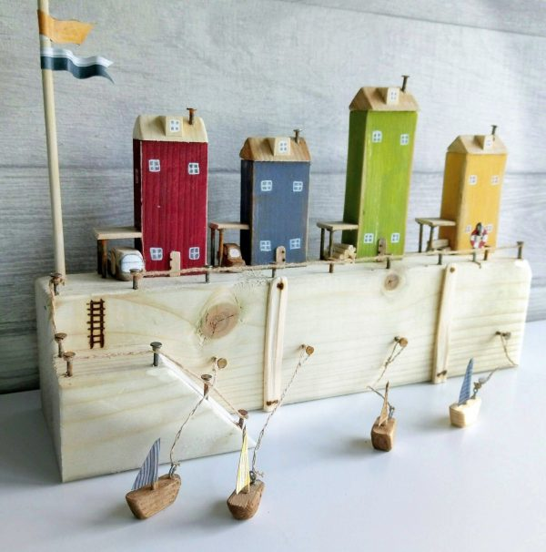 handmade wooden houses