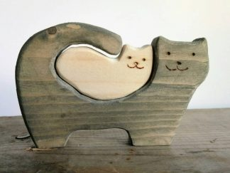 Wooden Cat and Kitty