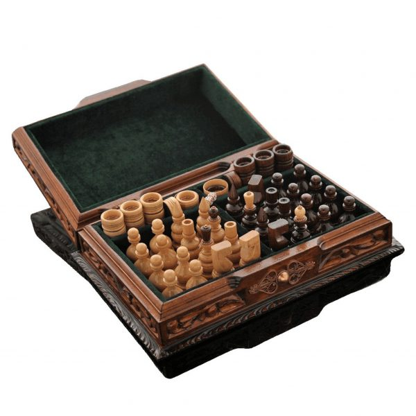 chess set handmade wooden