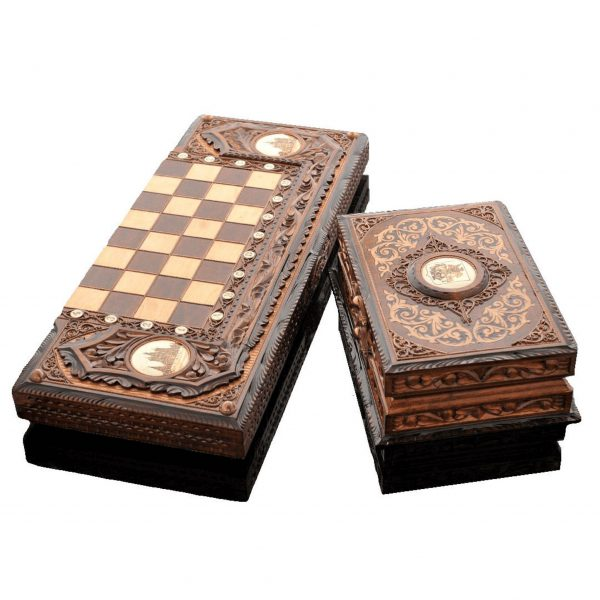 Chess Backgammon Set
