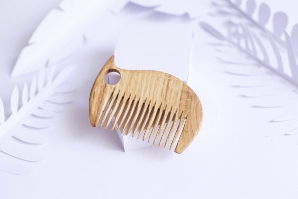 handmade wooden hair comb