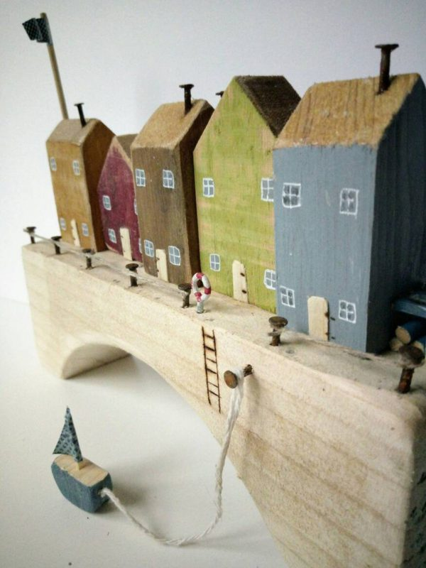 wooden colorful houses for kids