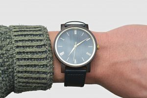 Black Bespoken Wooden Watch