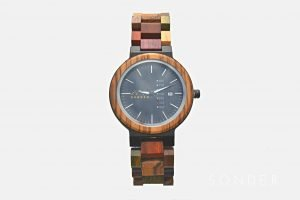 Multicoloured Wooden Watch