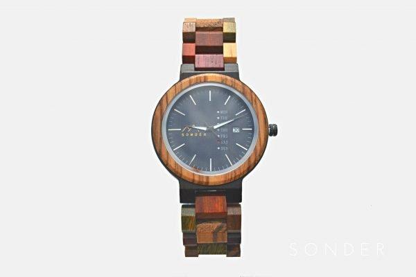 Multicoloured Wooden Watch