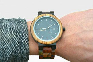 Multicoloured Wooden Watch handmade