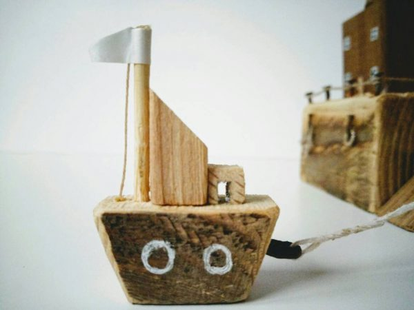 handmade wooden boats for kids