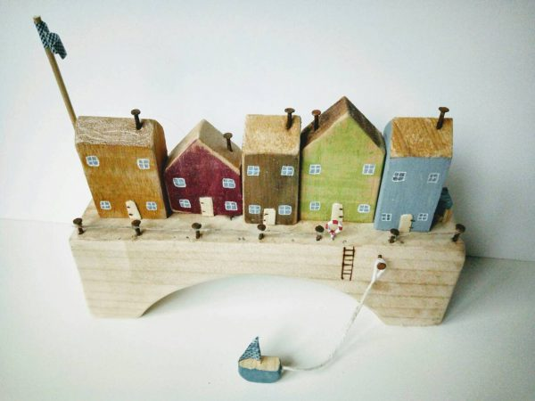 colorful wooden houses for kids