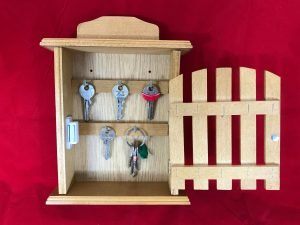 key box wooden