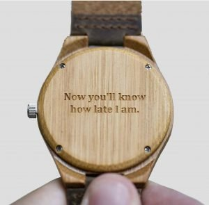 Leather Wooden Watch