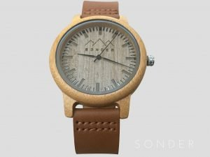 personalized Leather Wooden Watch