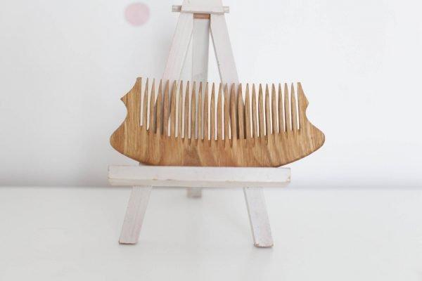 solid oak comb