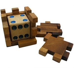 wooden handmade cube puzzle