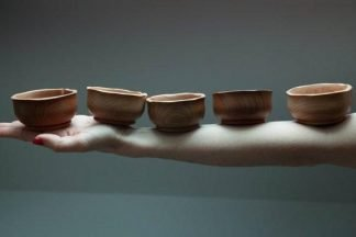 Set of 5 dweller wood bowls