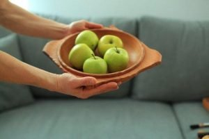 handmade beech wood bowl