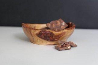 Hand Carved Golden Plum Bowl