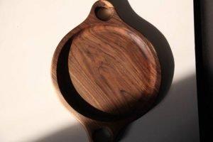 walnut wood serving plate