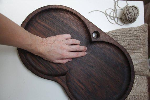 handmade wooden serving platter