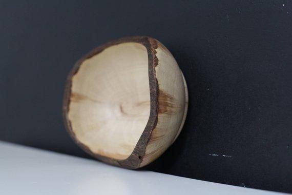 black wooden bowls