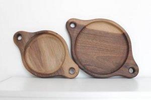 Set of Dweller Walnut Plates