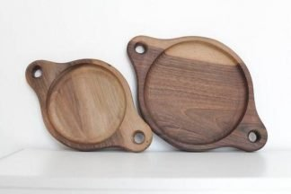 Set of Dweller Walnut Plates