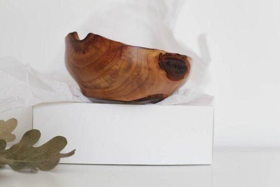 wooden golden bowl