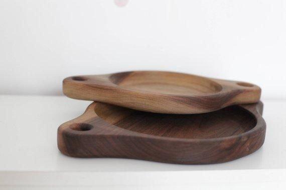 serving trays set wooden