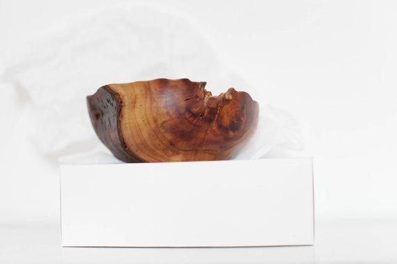 golden plum bowl handmade
