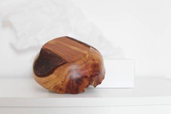 handmade golden plum wooden bowl