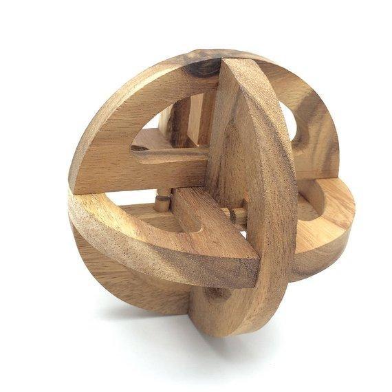 handmade wooden ball puzzles