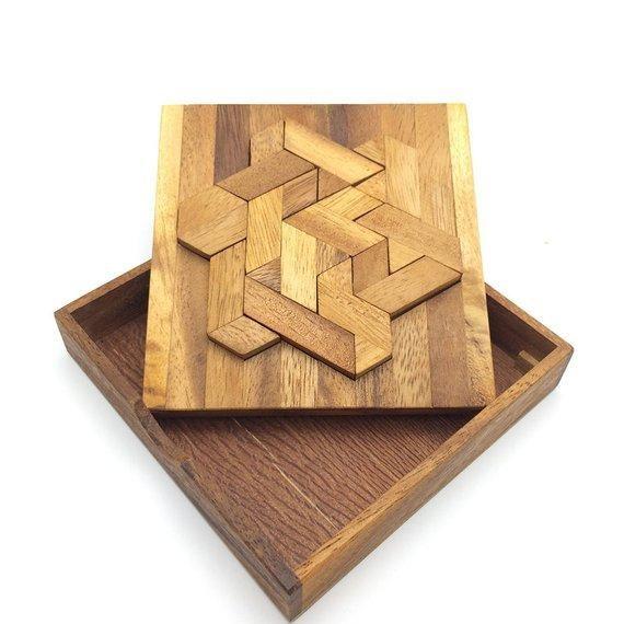 handmade wooden puzzle