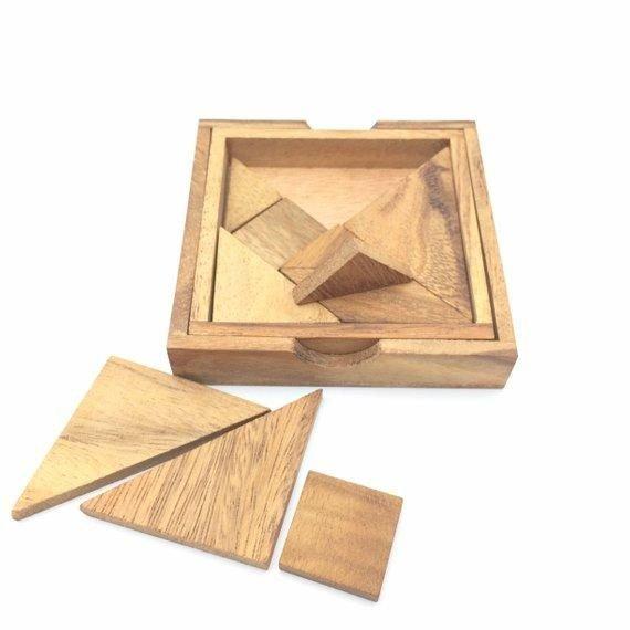 tangram wooden puzzle 7 pcs