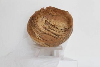 wooden bowl with cool texture