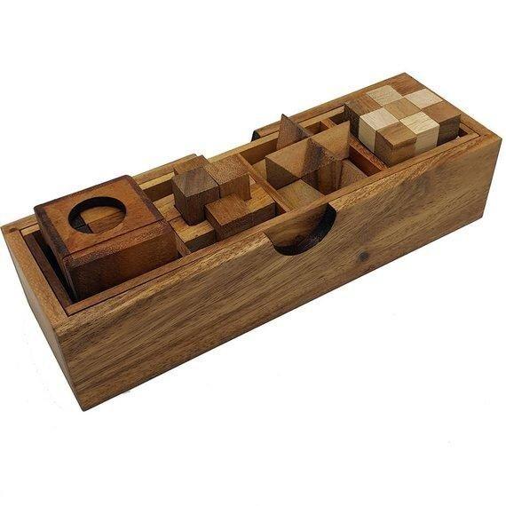 wooden puzzles set